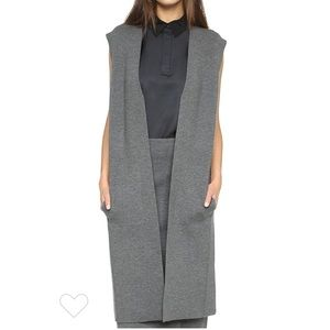 Rag & Bone Alanna Vest Medium Gray Merino Wool S